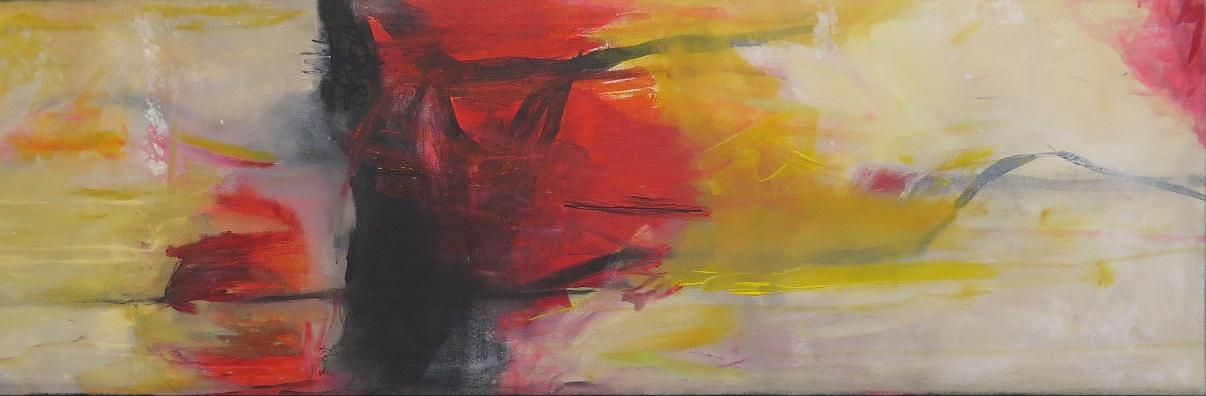 Red Mountain / 40 x 160 / Acryl