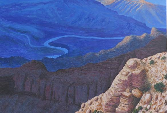 Grand Canyon view / 100 x 100 / Acryl / 900,00€