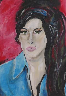 Amy Winehouse / 80 x 100 / Acryl